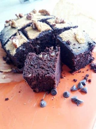 carrés au chocolat cuits à la vapeur sans gluten et vegan