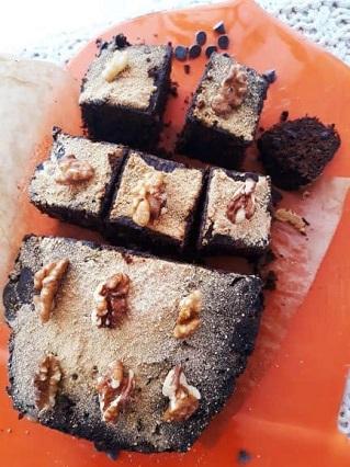 carrés au chocolat sans gluten et vegan