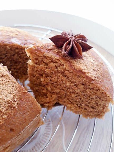 gâteau à l'orange moelleux sans gluten et vegan