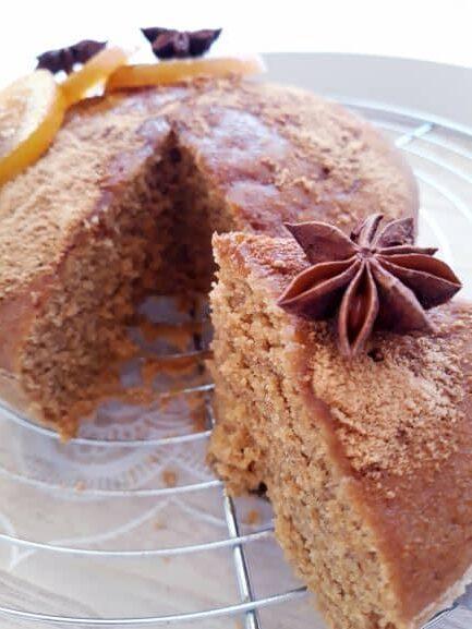 gâteau vegan moelleux à l'orange sans gluten