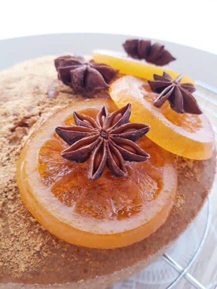 gateau vegan sans gluten orange